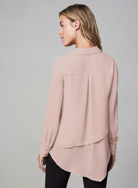 Asymmetric Chiffon Top, Multi, hi-res