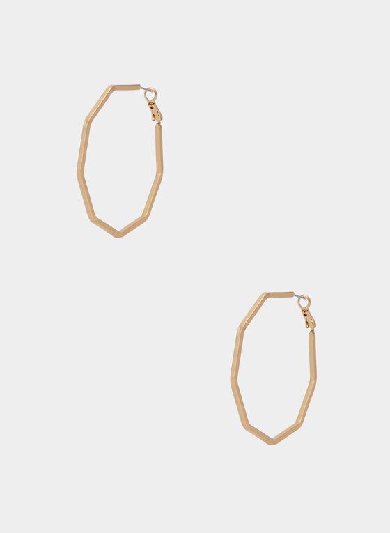 Créoles dorées octogonales, Or