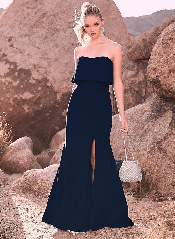 BA Nites - Off-the-Shoulder Popover Dress, Blue, hi-res