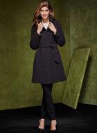 Manteau à col montant avec ceinture, Noir, hi-res