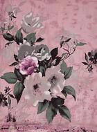 Floral Bouquet Print Scarf, Pink, hi-res