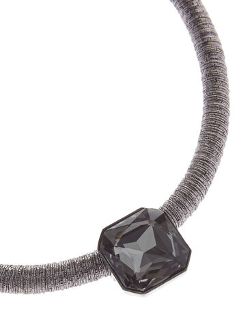 Square Crystal Cord Necklace, Grey, hi-res