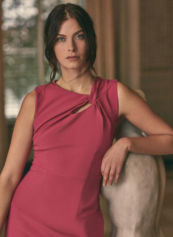 Donna Ricco - Robe fourreau à détail torsadé, Rose
