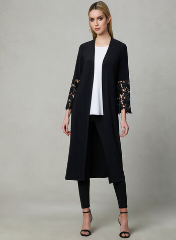 Frank Lyman - Lace Sleeve Duster, Black, hi-res