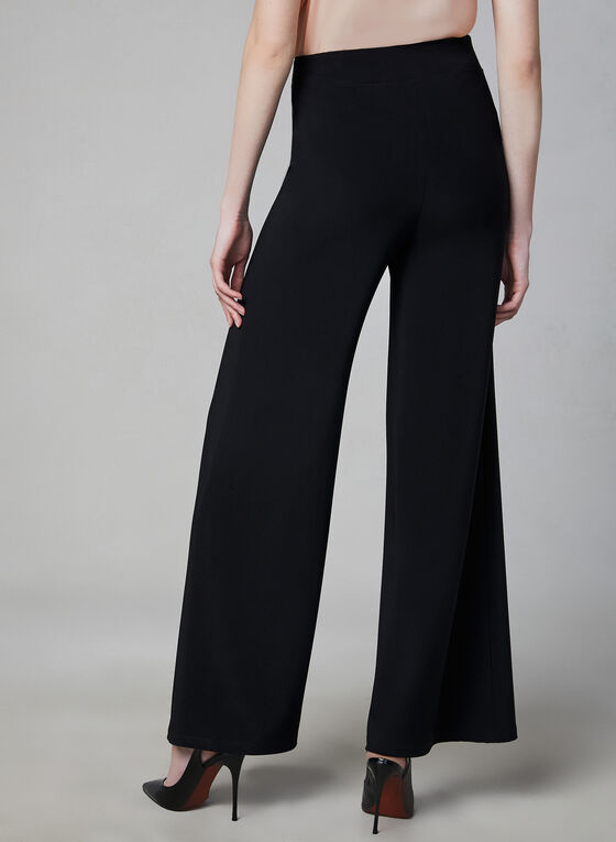 Wide Leg Pull-On Pants, Black, hi-res