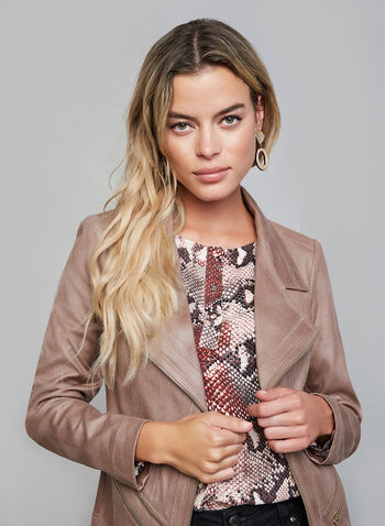 Vex - Faux Suede Jacket, Pink, hi-res,  fall winter 2019, long sleeves, faux suede,