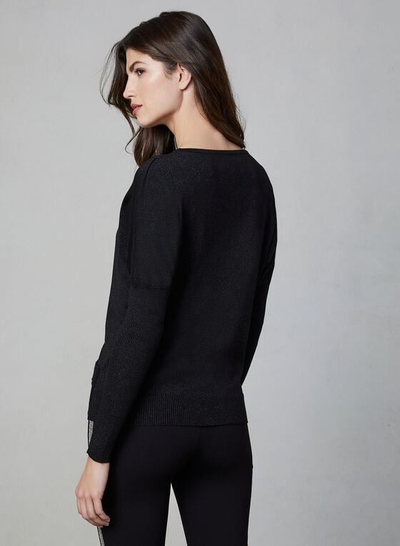 Vex - Drop Shoulder Sweater, Black