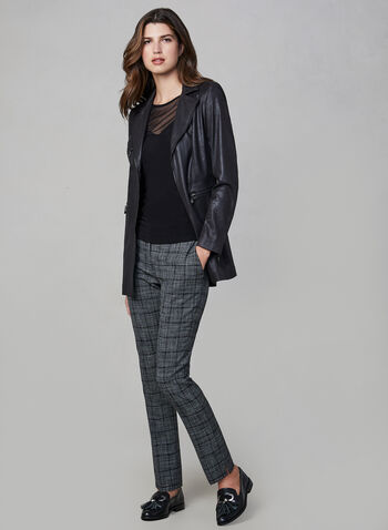 Vex - Long Faux Suede Jacket, Black,  jacket, blazer, long sleeves, fall winter 2019, faux suede, long