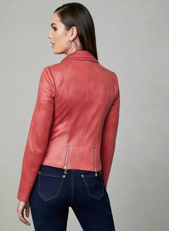 Vex - Blazer en faux daim et détails zippés, Orange