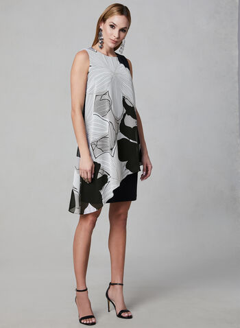 Ignite Evenings - Robe en mousseline asymétrique, Noir, hi-res