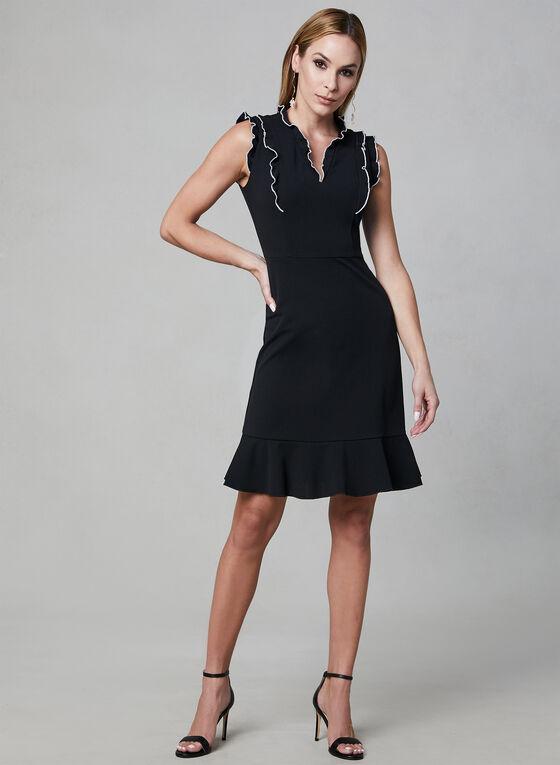 Karl Lagerfeld Paris - Ruffle Dress, Black, hi-res