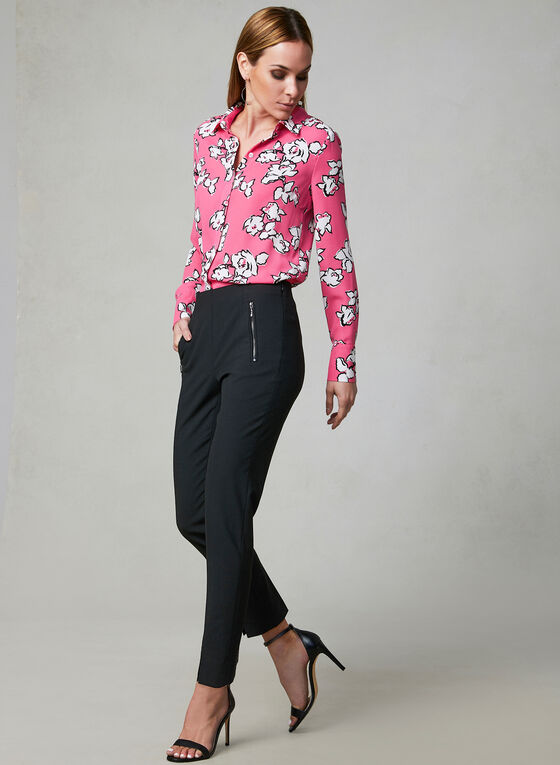 Floral Print Blouse, Red