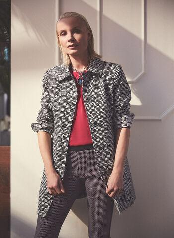 Novelti - Manteau à pois boutonné, Noir,  manteau, boutons, poches, épaulettes, pois, printemps été 2021