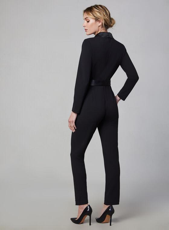 Adrianna Papell - Surplice Neckline Jumpsuit, Black