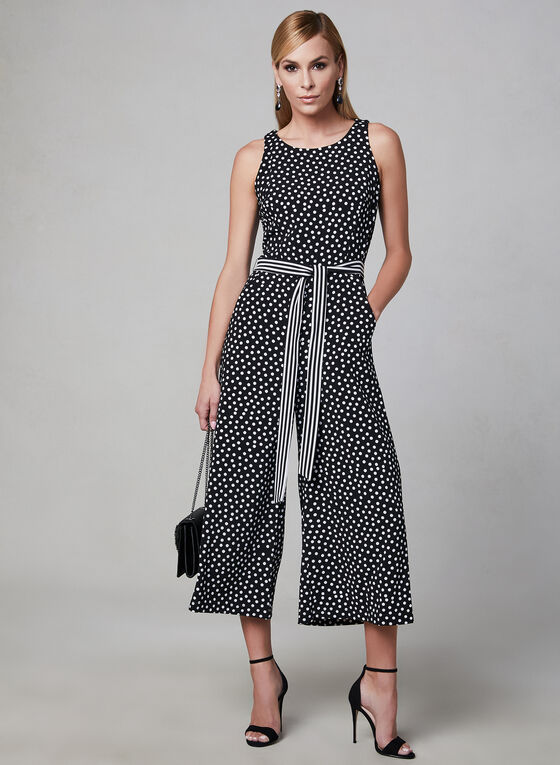 Polka Dot Jumpsuit, Black, hi-res