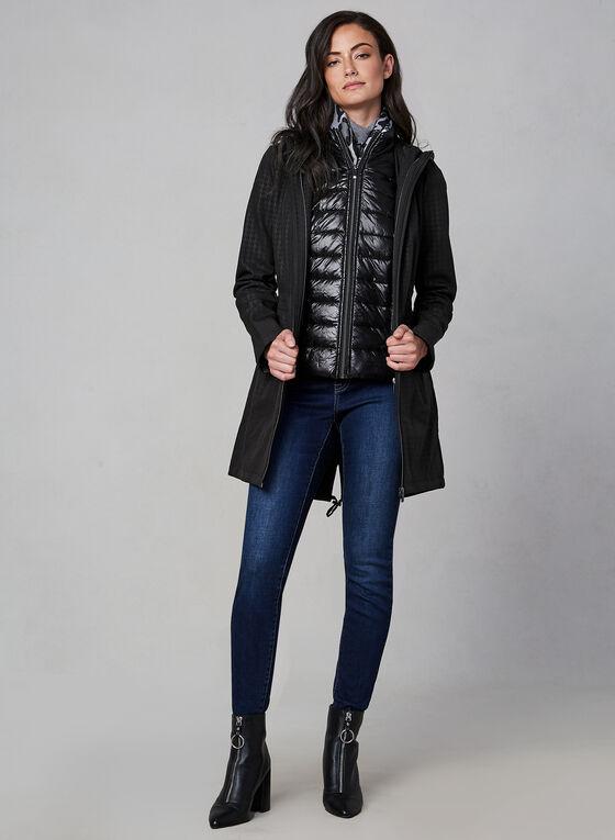 Houndstooth Softshell Coat, Black