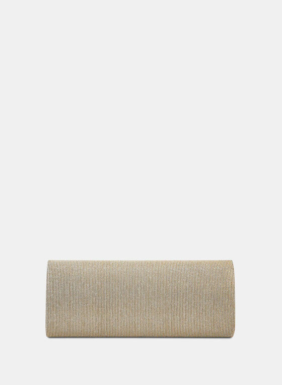Pochette allongée aspect pailleté, Blanc cassé, hi-res