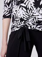 Dolman Sleeve Tie Detail Top, Black, hi-res