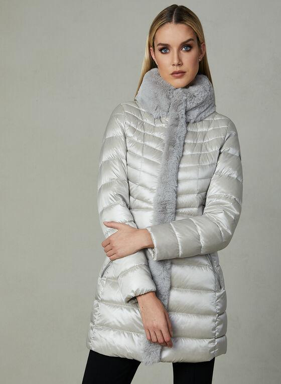 Karl Lagerfeld - Manteau matelassé en duvet, Argent