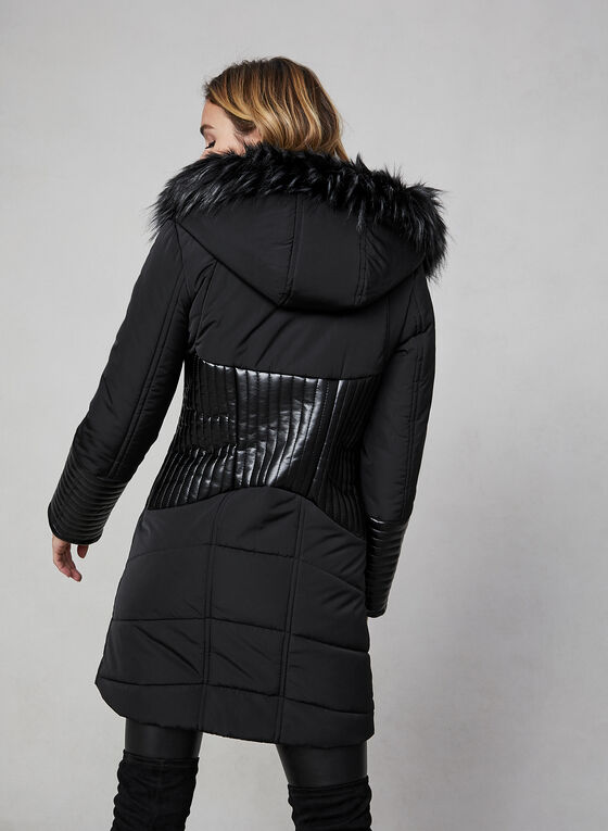 Northside - Quilted Coat With Hood, Black