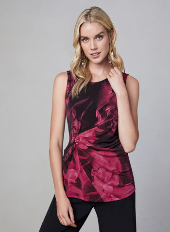 Floral Print Sleeveless Top, Multi, hi-res,  fall winter 2019, sleeveless, jersey