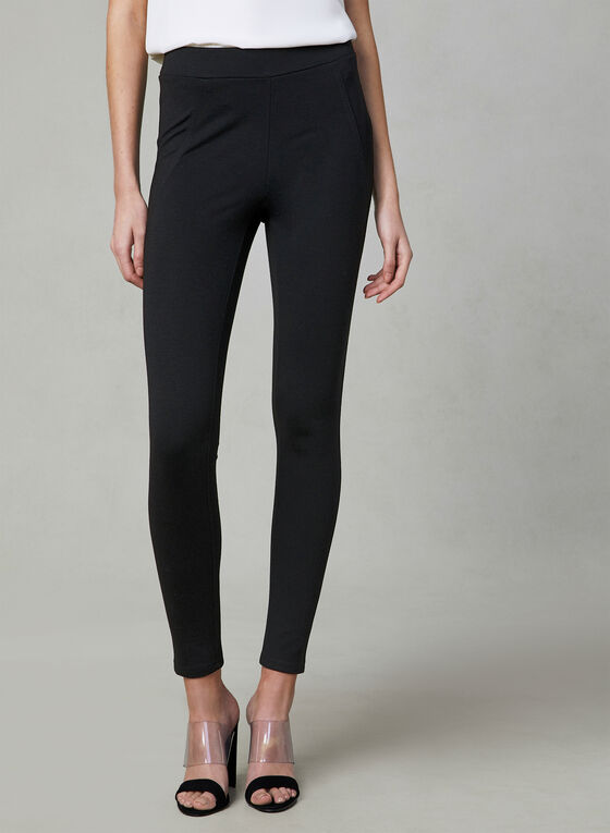Pull-On Leggings, Black, hi-res