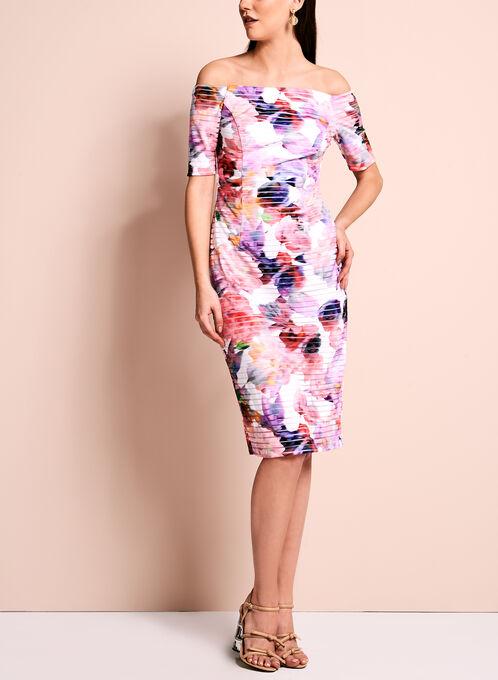 Maggy London - Off The Shoulder Floral Dress, Multi, hi-res