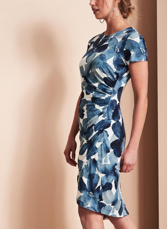 Maggy London - Floral Print Dress, Blue, hi-res