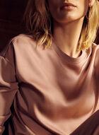 Drawstring Hem Sweater, Pink