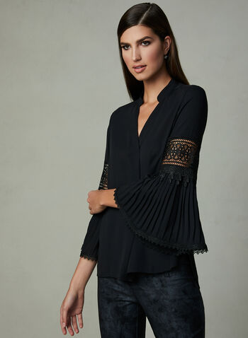 Frank Lyman - Bell Sleeve Top, Black, hi-res