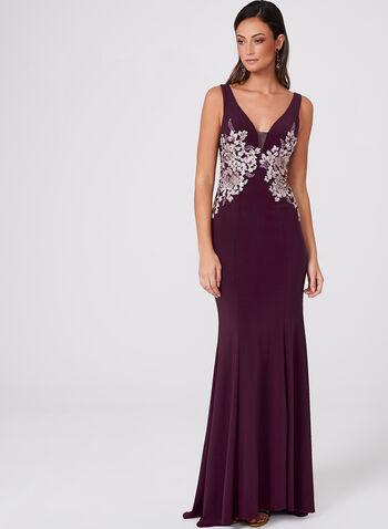 BA Nites - Crystal Embellished Lace Embroidered Dress, , hi-res