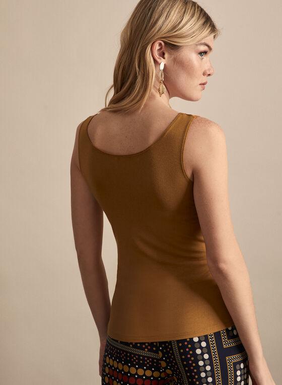Alison Sheri - Basic Tank Top, Brown