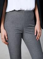 Pantalon Amber en tissu chiné, Noir, hi-res