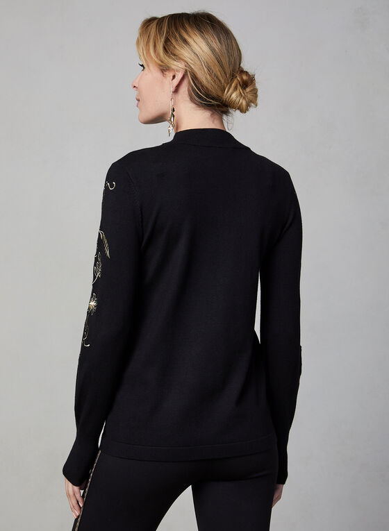 Blouson Sleeve Sweater, Black