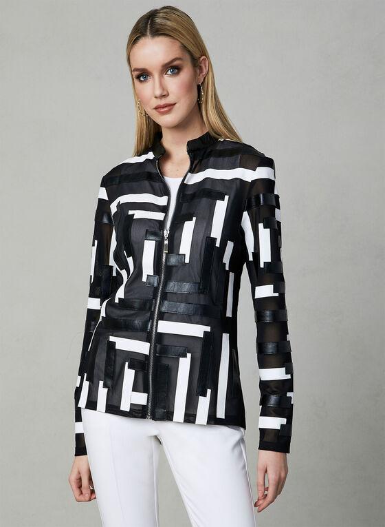 Frank Lyman - Abstract Print Jacket, Black