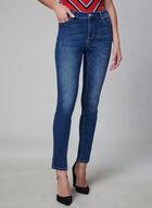 Distressed Slim Leg Jeans, Blue, hi-res