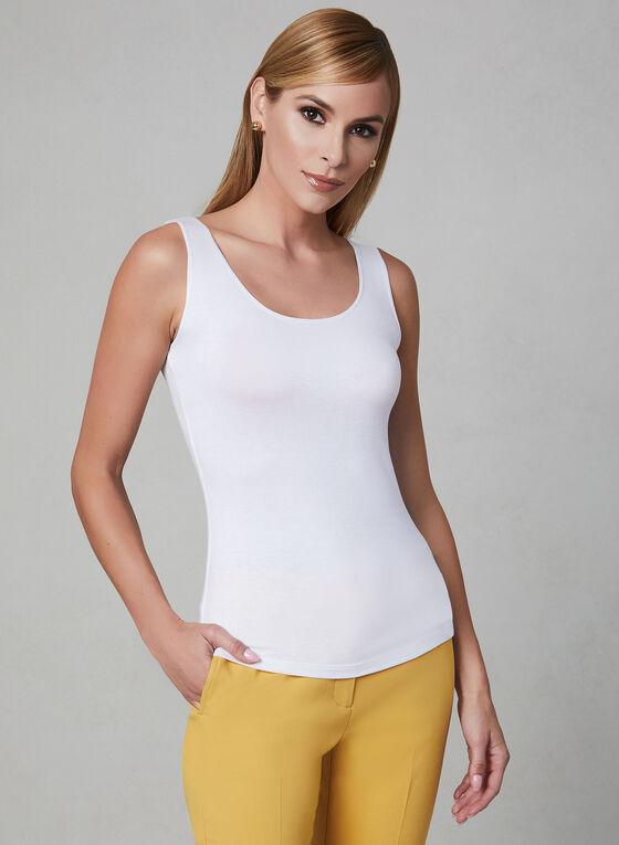 Alison Sheri - Sleeveless Top, White, hi-res