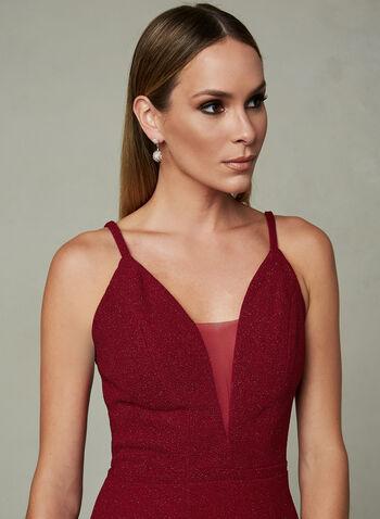 Cachet - Robe de soirée brillante à bretelles, Rouge, hi-res