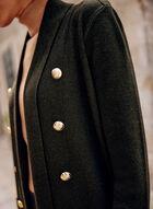 Golden Button Detail Open Cardigan, Green