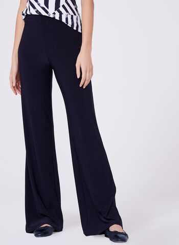 Compli K - Pull-On Wide Leg Pants , Blue, hi-res