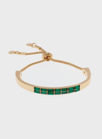Bracelet semi-rigide à brillants, Vert, hi-res