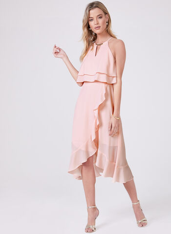 Kensie - Popover Crepe Dress, Pink, hi-res