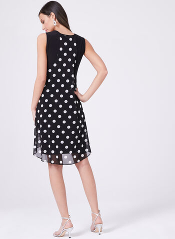 Frank Lyman - Polks Dot Print Dress, Black, hi-res