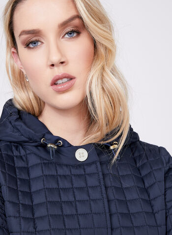 Ellen Tracy - Quilted Waterproof Jacket , Blue, hi-res