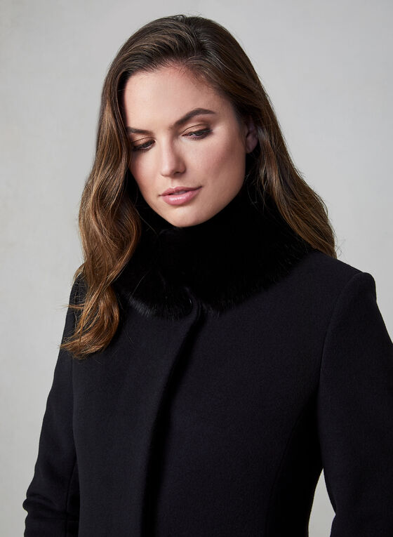 Mallia - Cashmere Wool Coat, Black