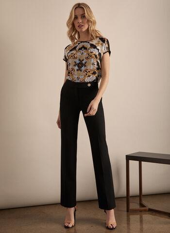 Pantalon coupe Lauren à jambe droite, Noir,  pantalon, lauren, jambe droite, pinces, printemps été 2020