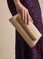 Glitter & Crystal Clutch, Gold