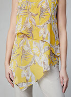 Floral Print Layered Top, Yellow, hi-res