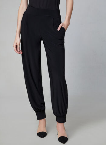 Jersey Harem Pants, Black, hi-res,  harem, pull-on, pockets, fall 2019, winter 2019