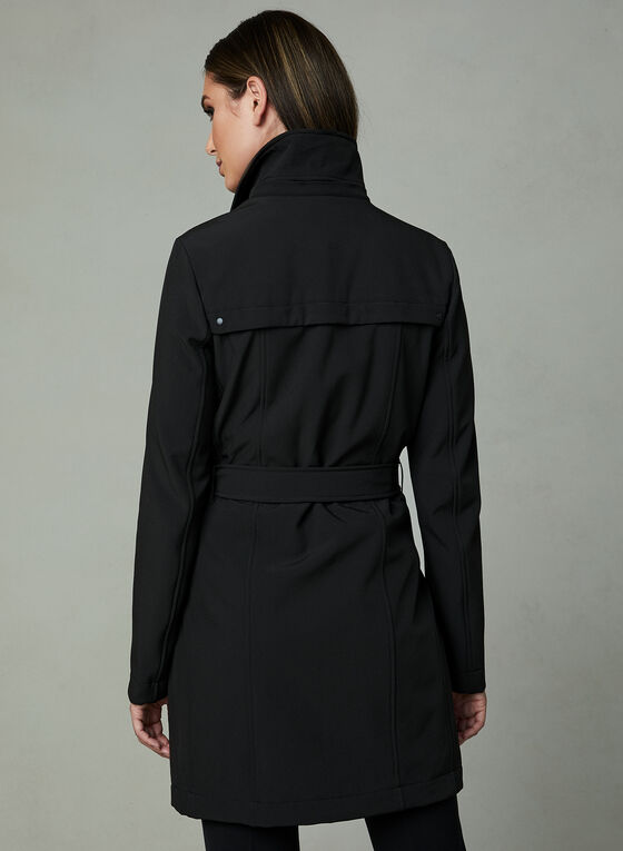 Novelti - Belted Trench Coat, Black, hi-res